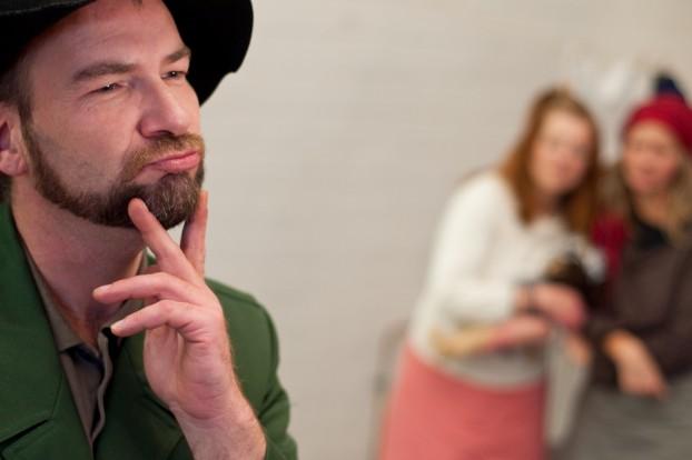 Foto von der Probe deaf5 zum Stück Fundevogel / Foto: Jascha Hilz